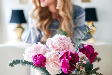Fresh Peonies + MacKenzie Childs Courtly Check Vase | Friday Favorites