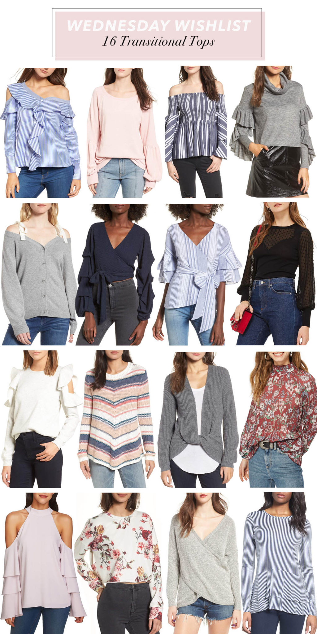 Transitional Tops to Wear Now | Transitioning Into Spring Months