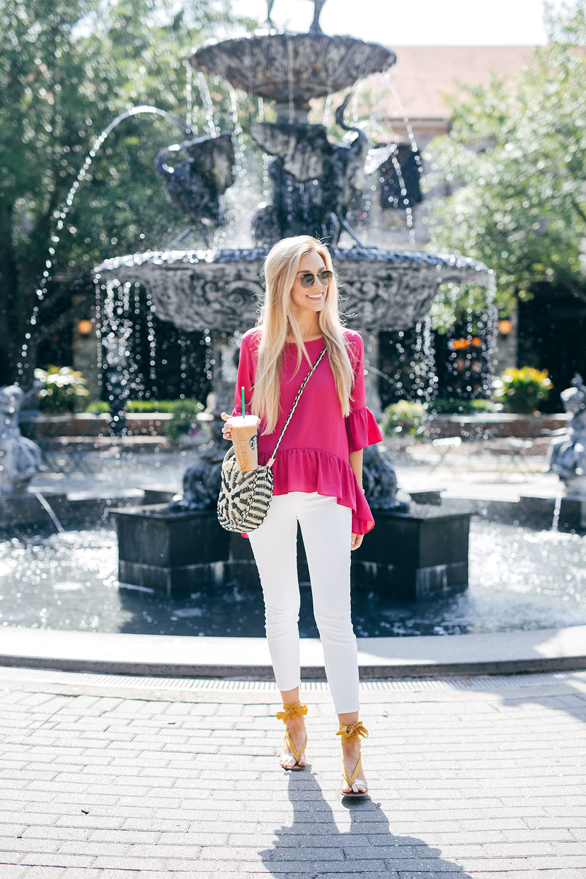 Brighten Up Your White Jeans | Karen Kane Spring Tops