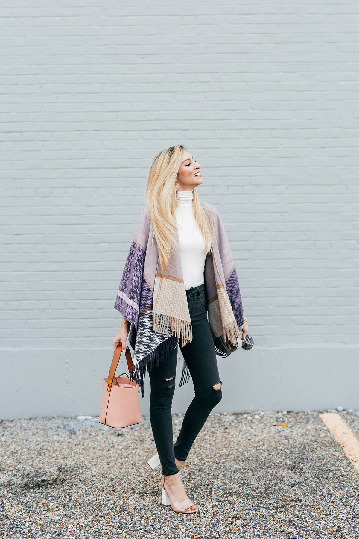Fall Poncho Outfit Idea   Fall Date Night Outfit Ideas   Fall Poncho for Date Night   How to Dress Up a Poncho