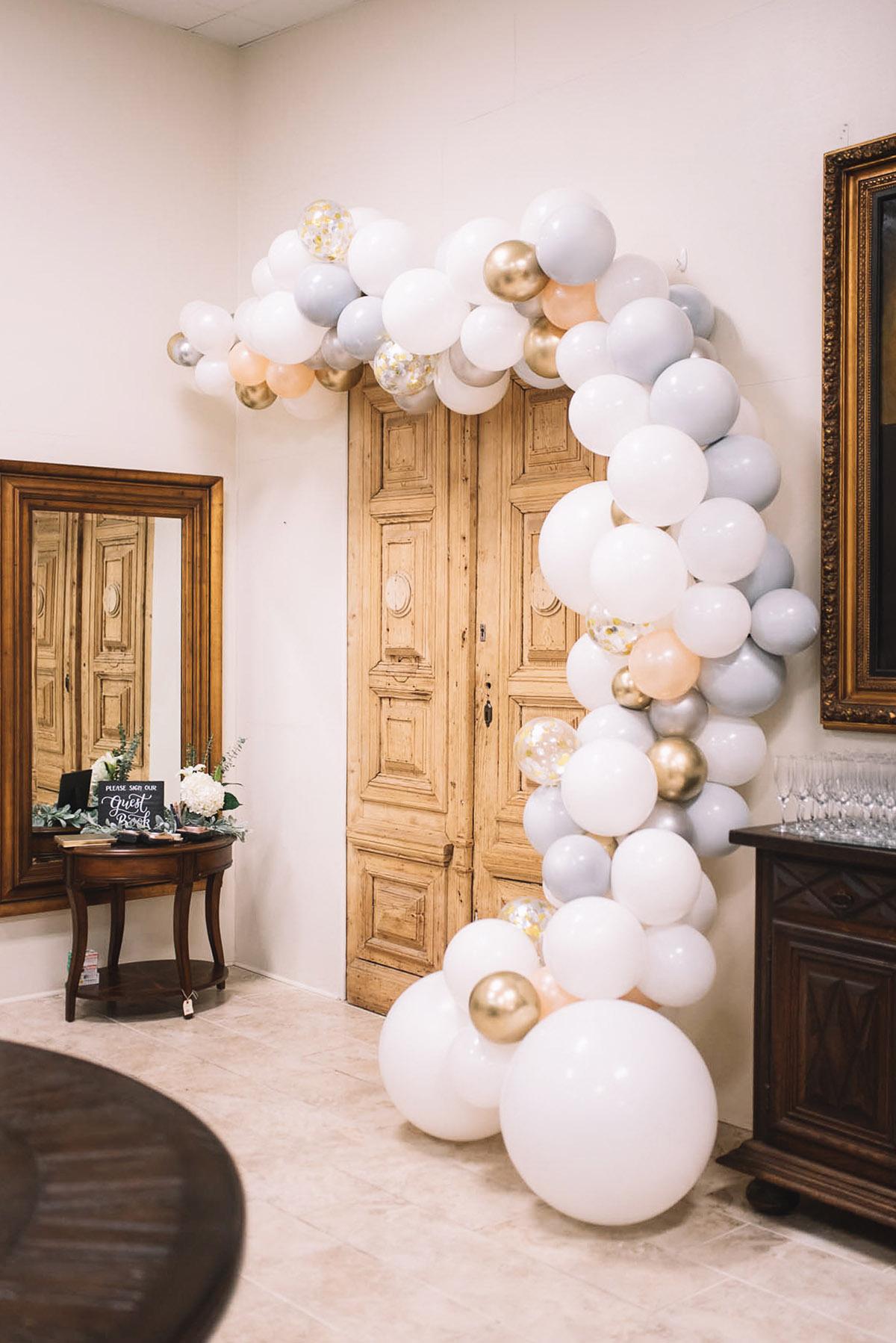 Baby Shower Brunch Details | Baby Shower Balloon Garland