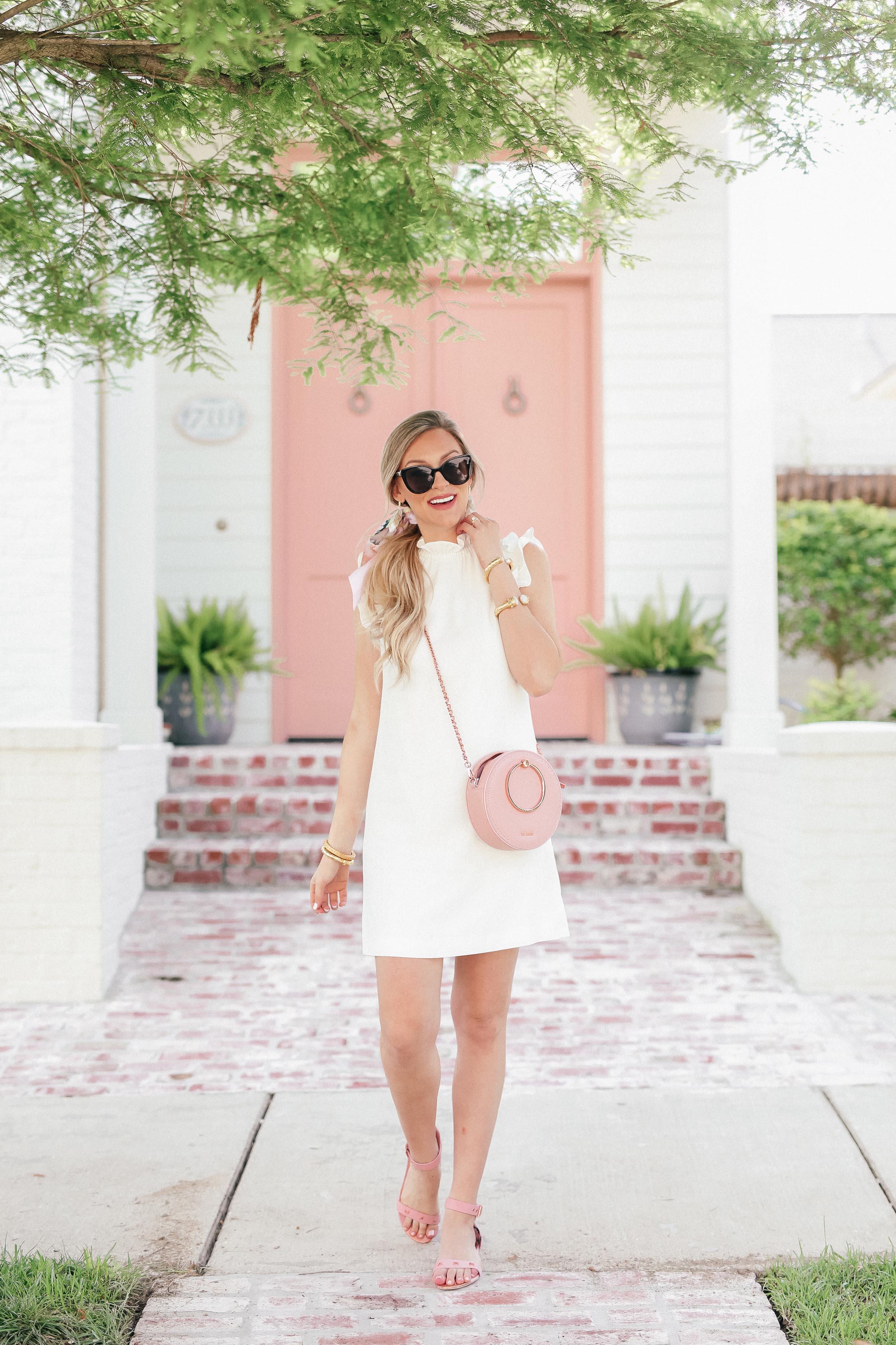 Little White Dress for Summer | Ted Baker White Ruffle Dress