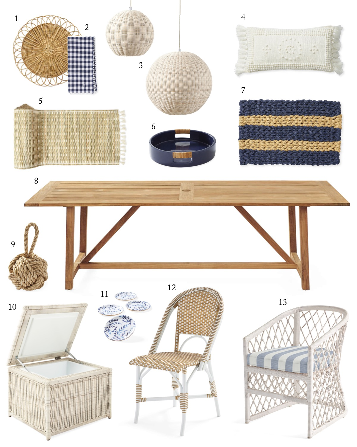 Serena & Lilly Outdoor Decor on Sale