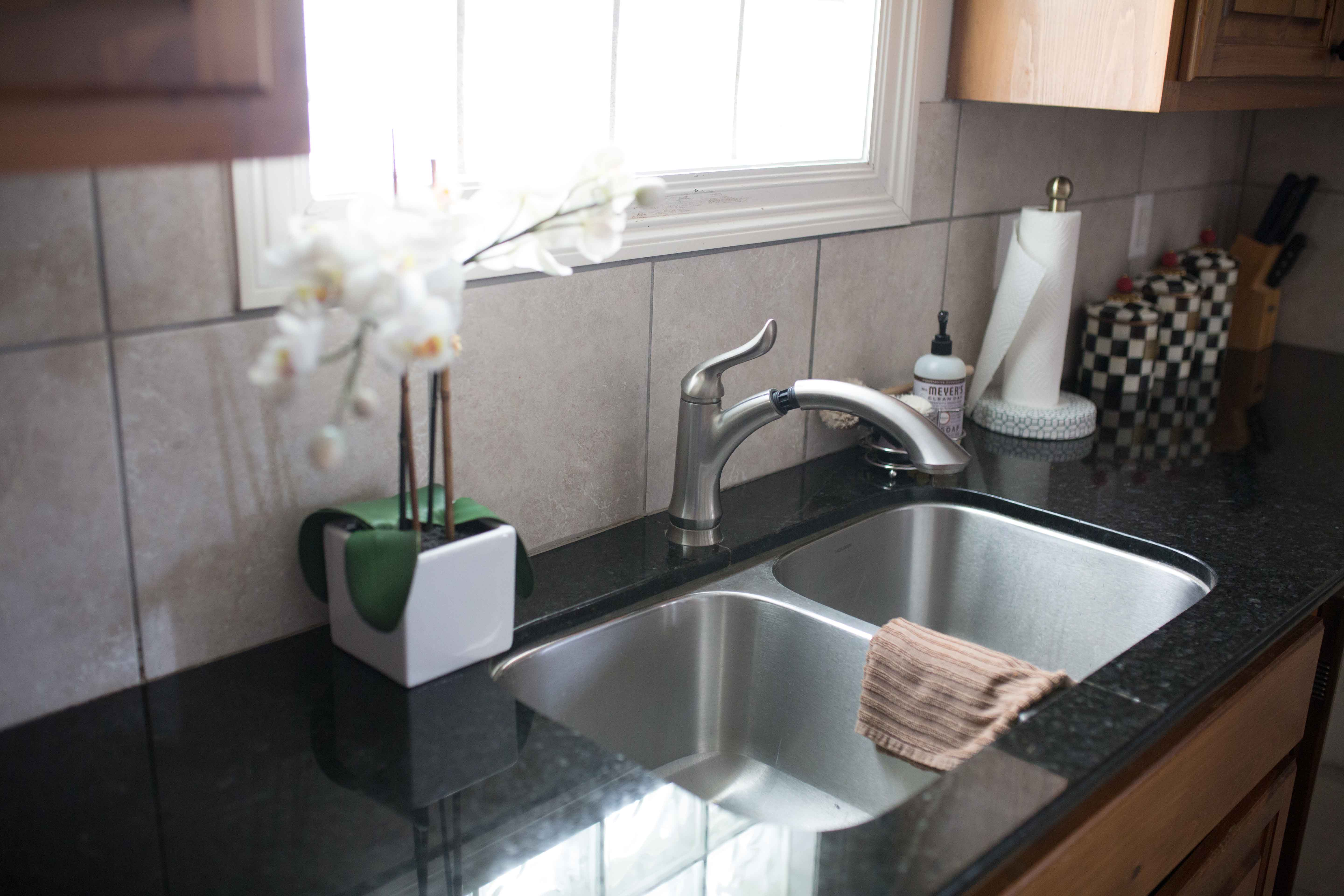 Kitchen Before and After | Painted White Kitchen Cabinets