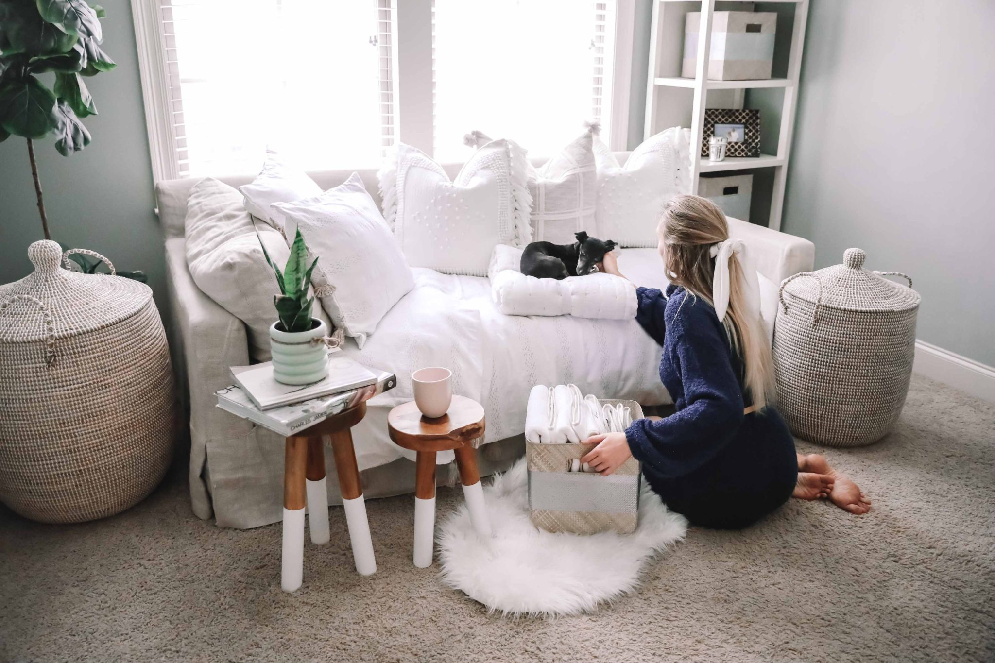 Holiday Hosting Tips + Serena and Lily Guest Accessories for Bedroom and Bathroom
